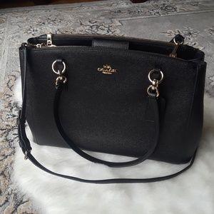 Coach Christie Carryall Satchel Bag Leather Purse